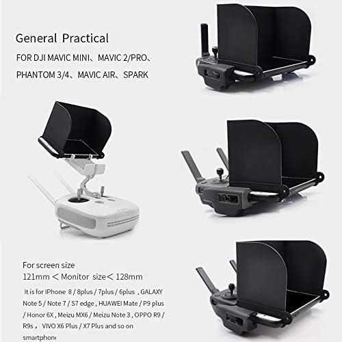 RIGINADO Pare-soleil pliable pour tablette portable compatible avec DJI Mavic Air 2/Mini/Mavic 2/PRO/AIR/Spark Drone Télécommande