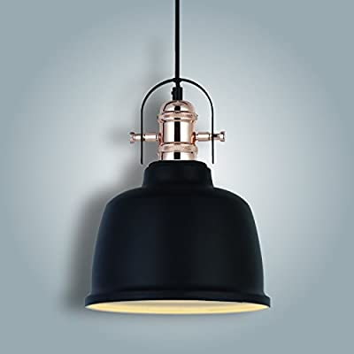 VINLUZ Industrial Pendant Lighting Black 1-Light Modern Chandelier Ceiling Lampshad Bronze Barn Metal for Kitchen Living Dining Room Bedroom - -Dimmable: fully dimmable when used with a dimmable bulb and compatible dimmer switch -Adjustable: fully adjustable designer cord(59inch) allows you to customize the fixture to your lighting needs and desired look -Easy to install:includes all mounting hardware for quick and easy installation - kitchen-dining-room-decor, kitchen-dining-room, chandeliers-lighting - 41Yc5fbiCeL. SS400  -