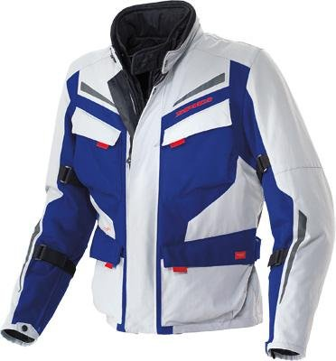 H2out Textile Jacket (Spidi Sport S.R.L. Voyager 2 H2Out Jacket , Size: XL, Gender: Mens/Unisex, Apparel Material: Textile, Distinct Name: Gray/Blue, Primary Color: Blue D95-050-X)