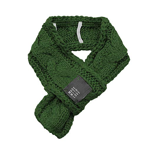 Alalaso Knitted Dog Scarf Collar Neckerchief Pet Puppy Cat Winter Neck Warmer Xmas Gift(Green,S) ()