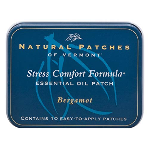 Natural Patches Of Vermont Bergamot Stress Comfort Essential Oil Body Patches, 10-Count Tin ()