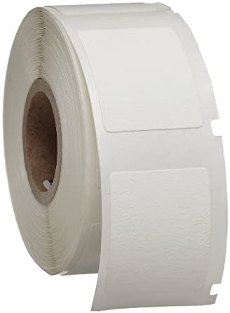 "Brady WML-911-502 I.D. PRO Plus LS2000 And BradyMarker 1.25"" Height, 1"" Width, B-502 Repositionable Vinyl Cloth White Color XC Plus Printer Labels (250 Per Roll)"