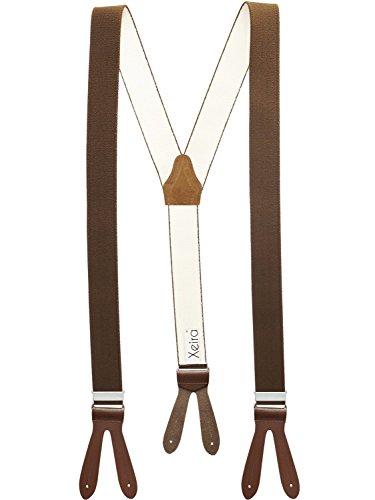 Xeira - Hosenträger mit Lederriemen Style 308