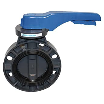Hayward BYCN1030E1LGB Series BYCN PVC Body /& Disc EPDM Liner Lever for Butterfly Valve 3 Size