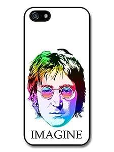 John Lennon The Beatles Imagine Multicolour Portrait Illustration Case For Sam Sung Galaxy S5 Cover