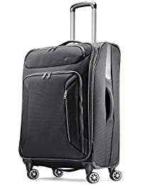 Zoom Softside Luggage with Spinner Wheels, Black