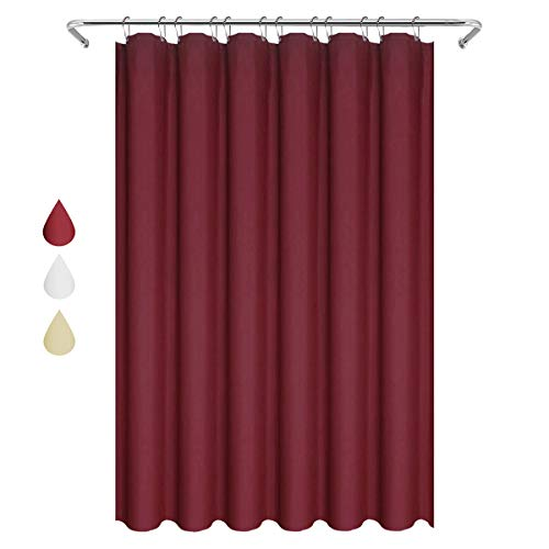 Eforgift Elegant Design Shower Curtain Water Repellent with Reinforced Metal Grommets, Vintage Bathroom Shower Curtain Fabric Decor Wine Red, Standard Size, 72 x 72 inches