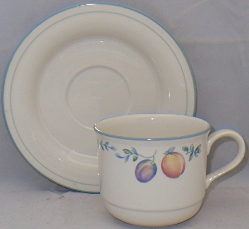 Cottage Country Lenox - Lenox Country Cottage Orchard Flat Cup & Saucer Set