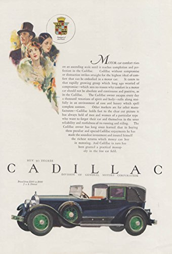 - Motor car comfort rises on an ascending scale Cadillac Town Car ad 1927 Asia