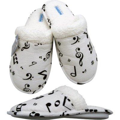 Pantofole Di Flanella Note Musicali (xl, Taglia Donna: 9.5-10.5)