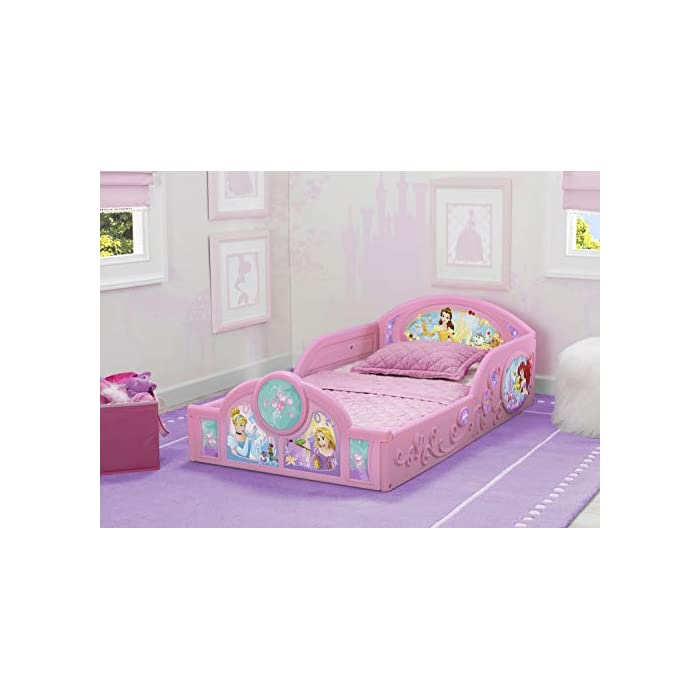 Delta Children Princess Sleep and Play Toddler Bed