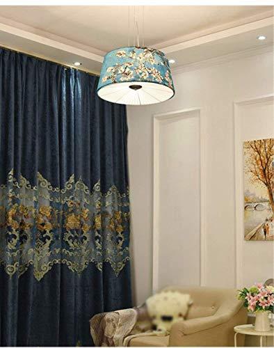 XI Guo Accueil Accueil Accueil Hôtel Décoration Lumières, Vintage Lustres Meubles Créatifs Américain Rétro Tissu en Tissu 50Cm 9025bb