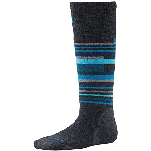 Smartwool Wintersport-Socken, Gestreift – Anthrazit