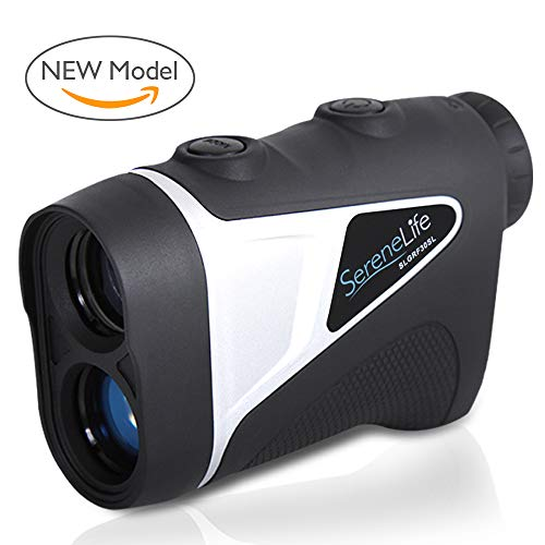 SereneLife Upgraded Advanced Golf Laser Rangefinder with Pinsensor Technology - Waterproof Digital Golf Range Finder Accurate up to 540 Yards - Upgraded Optical View
