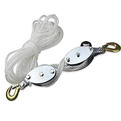2 Ton Hand Manual Rope Pulley Hoist Vertical Lift Tool Wheel Block&tackle by Unknown