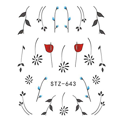 One Sheet Black Necklace Jewelry Design Water Transfer Sticker Nail Art Decals Diy Fashion Wraps Tips Manicure Tools (STZ-643)