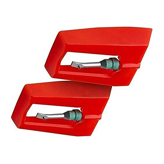Iwooplus Universal Diamond Replacement Stylus Needle for Turntables, 2 Pack