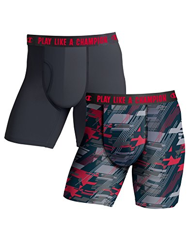 Lightweight Boxer Brief, Black/red camo, X-Large ()