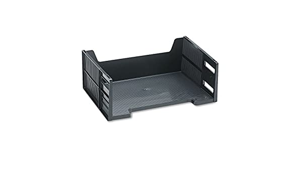 Rubbermaid 17601 High capacity side load stackable tray 5 1 8 high letter black