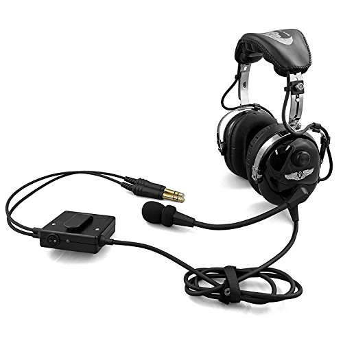 Radio Noise Aircraft (Rugged Air RA950 Stereo General Aviation Pilot Headset with Active Noise Reduction Featuring Gel Ear Seals and Full Flex Boom Mic)