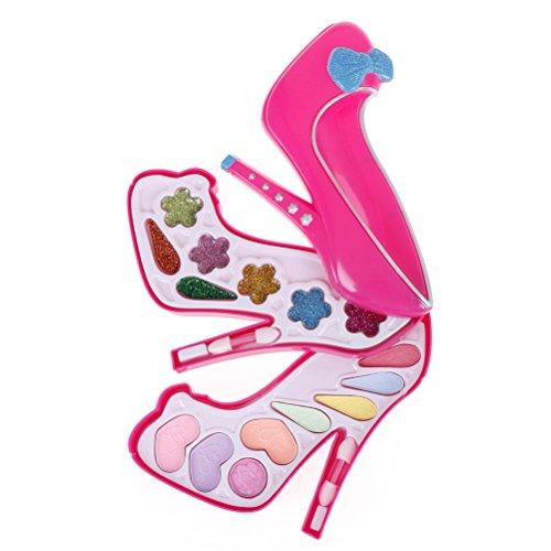 zhenyu 1 Set Children Girls Pretend Play Make Up Toys Kids Girls Makeup Tool Kit Toy Box Cosmetics Play Sets Toys - Barbie Princess Styling Head
