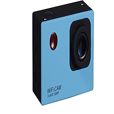 Smart Wifi 2.0 LCD FullHD 1080p 50 Meters Waterproof Sport Camera with 160° Wide Angle Blue