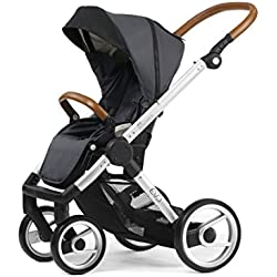 Mutsy Evo Urban Nomad Stroller, Silver Chassis, Dark Grey