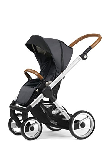 Evo Chassis - Mutsy Evo Urban Nomad Stroller, Silver Chassis, Dark Grey