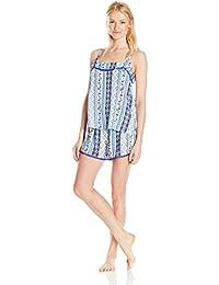 Mae Mujer Tanque De Pom recortar y corto Pajama Set