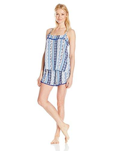 Mae Women's Pom Trim Tank and Short Pajama Set