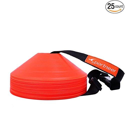 Sportneer Soccer Orange Agility Markers