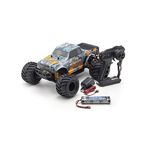 Kyosho Ready-to-Run RC Monster Truck Vehicle, Orange/Grey from Kyosho