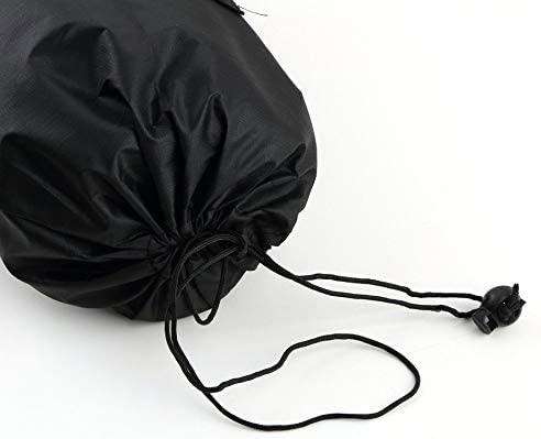 Black RoxTop Portable Yoga Pilates Mat Nylon Bag Carrier Mesh Case Adjustable Strap