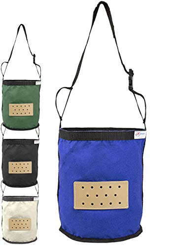 Derby Originals Leather Vented Canvas Feed Bag with Padded Noseband and No-Waste Flap Design