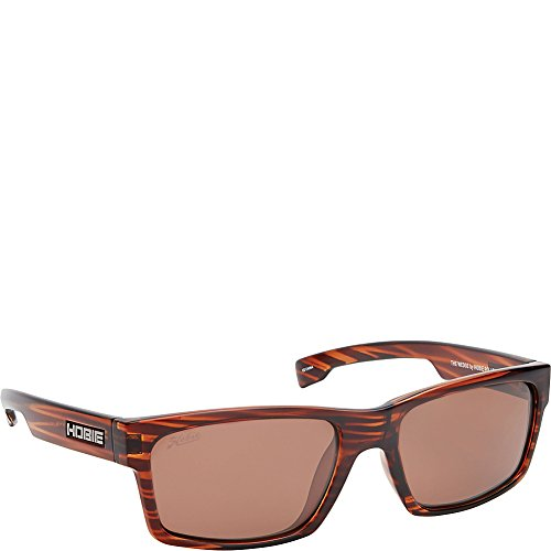 Hobie The Wedge Rectangular Sunglasses,Shiny Brown Wood Grain,55 - Amazon Hobie Sunglasses