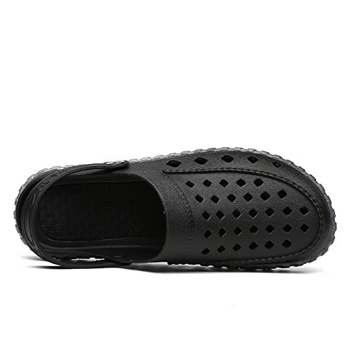 Slip amp;Baby EU Sandali Black Antiscivolo Gray Mules spiaggia Gray impermeabili Dimensione Flat Sunny Color da Blue Vamp Heel On Men's Hollow 40 0d40wq