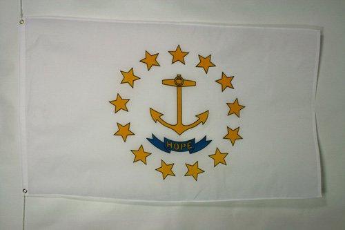 AZ FLAG Rhode Island Flag 2' x 3' - US State of Rhode Island Flags 60 x 90 cm - Banner 2x3 ft
