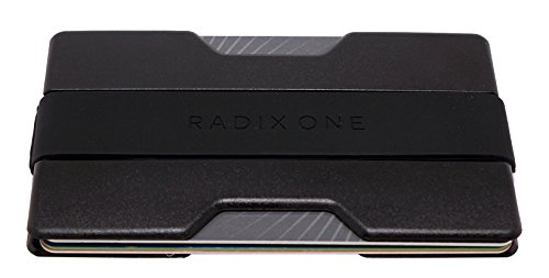 Radix One Slim Wallet - Minimalist Front Pocket Ultralight Polycarbonate Wallet Money Clip