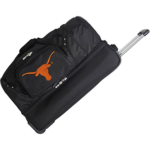 NCAA Texas Longhorns Rolling Drop-Bottom Duffel