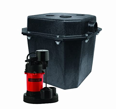 Red Lion RL-SPS33 1/4 HP Sump Pump Water Removal System with Vertical Float Switch and Five Gallon - 0.25 Hp Water