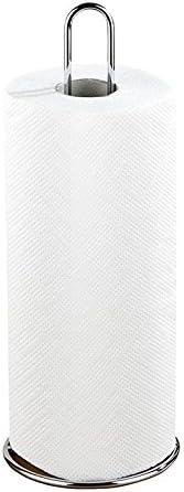 metal 12 x 32 x 12 cm silver glossy Globalflashdeal Kitchen roll holder
