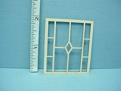 Dollhouse Miniature Decorative Window Mullion #DW Laser Creations 1/12th Scale
