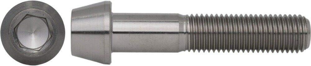 1 St/ück Titan DIN 912 Zylinderschraube Feingewinde mit konischem Kopf M10 x 1,25 x 60 mm Grade 5