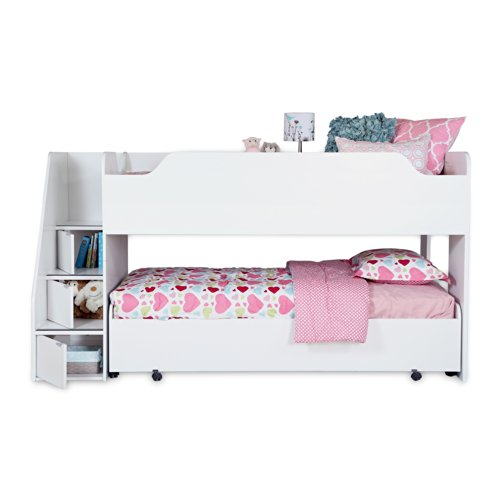 South Shore Mobby Twin Loft Bed with Stairs