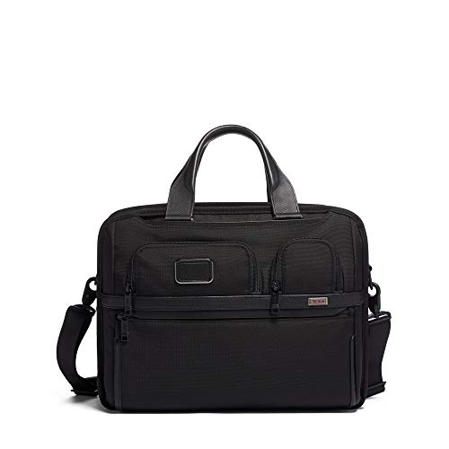 TUMI - Alpha 3 T-Pass Expandable Laptop Brief Briefcase - 15 Inch Computer Bag for Men and Women - Black