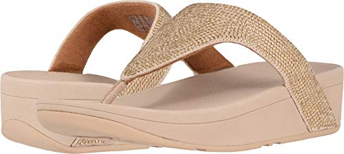 FitFlop Women's Lottie Shimmer Crystal Artisan Gold/Frappe 7 M US
