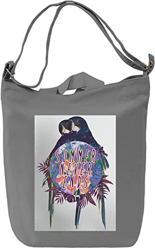 Summer Never Ends Borsa Giornaliera Canvas Canvas Day Bag| 100% Premium Cotton Canvas| DTG Printing|