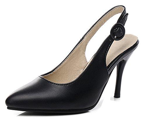 Unie Dos Sur Stiletto Mode Aisun Sangles Escarpins Noir Femme Tendance Couleur Le Pointu Bout wtvzvXqr