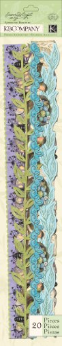 (K&Company Susan Winget Adhesive Borders, Botanical Foil)