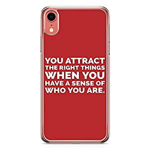 Loud Universe Phone Case For iPhone XR Transparent Edge Knowyourself Phone Case Attract Phone Case Know iPhone XR Cover